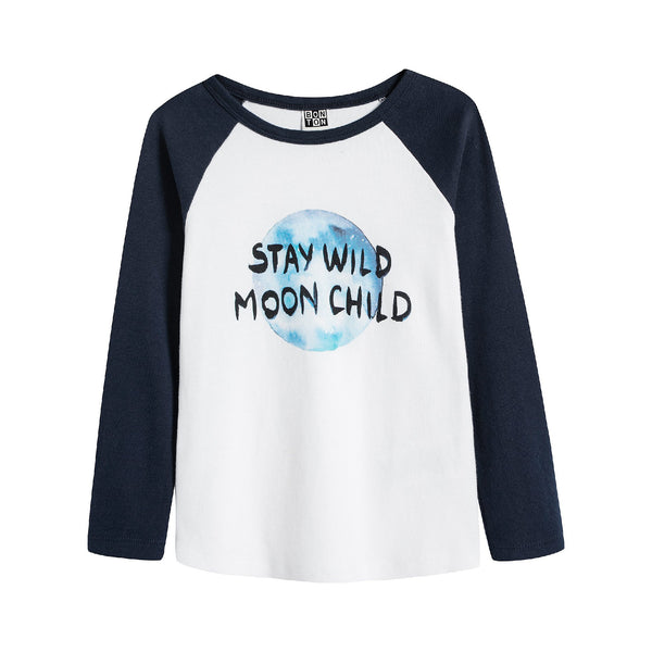 Boys & Girls White Moon T-Shirt