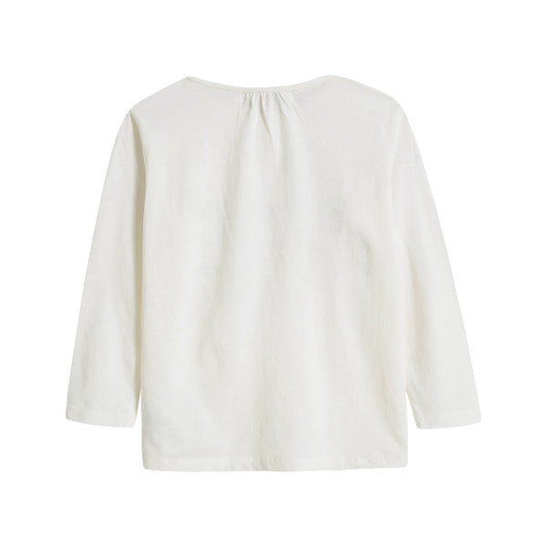 Baby Boys & Girls Off White Cotton T-Shirt