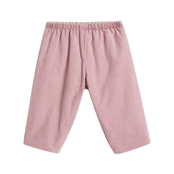 Baby Boys & Girls Powder Pink Cotton Pants