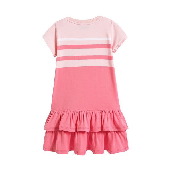 Baby Girls Pink Stripe Cotton Dress