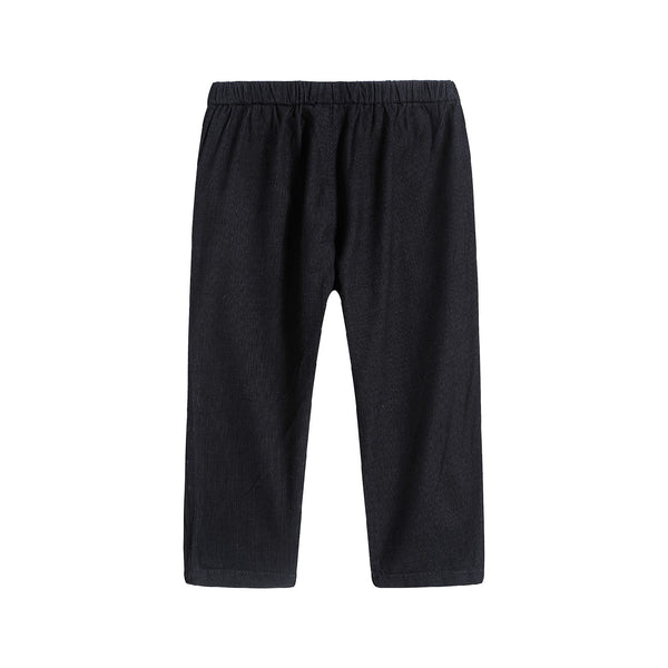 Baby Boys & Girls Navy Cotton Pants