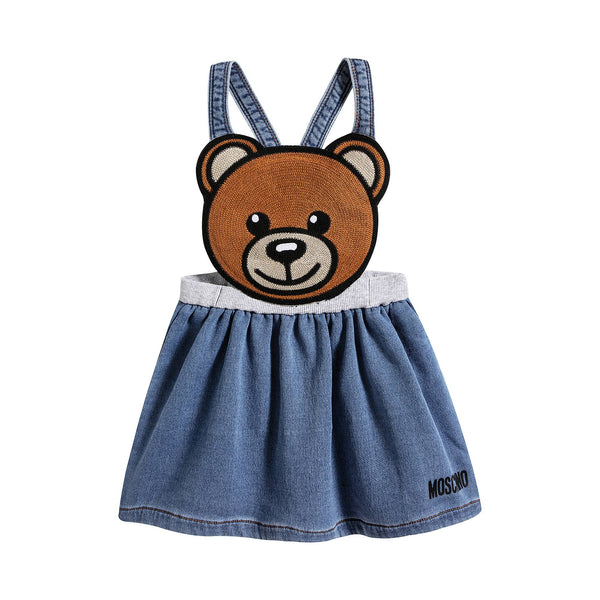 Baby Girls Bear Denim Skirt