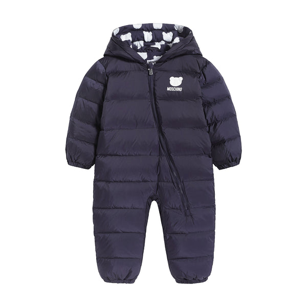 Baby Boys Navy Blue Padded Overalls