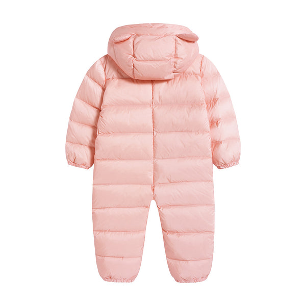 Baby Girls Pink Padded Overall