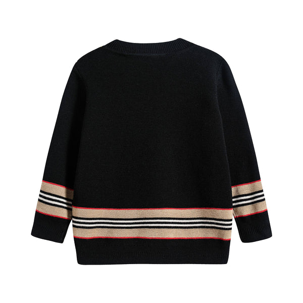 Baby Boys Black Stripe Jumper