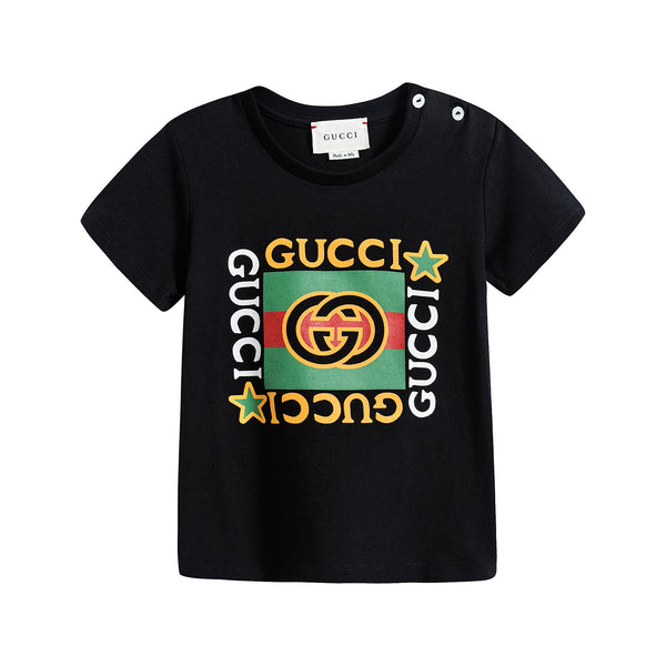 Baby Boys & Girls Black GG T-Shirt