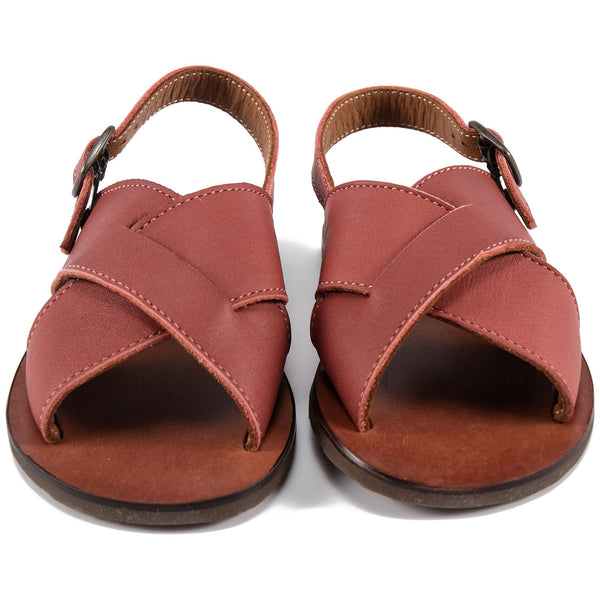 Baby Boys & Girls Red Leather Sandals