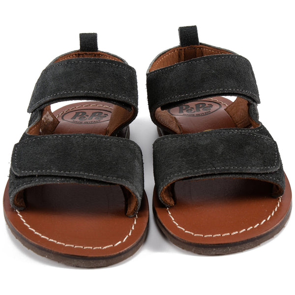 Baby Boys & Girls Black Leather Sandals