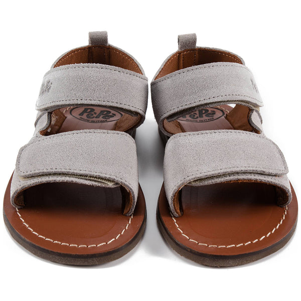 Boys & Girls Grey Leather Sandals