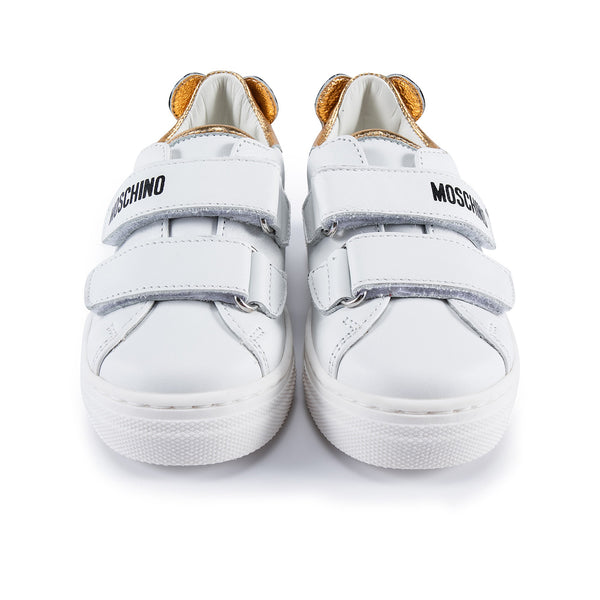 Boys & Girls Gold Patch Teddy Sneakers