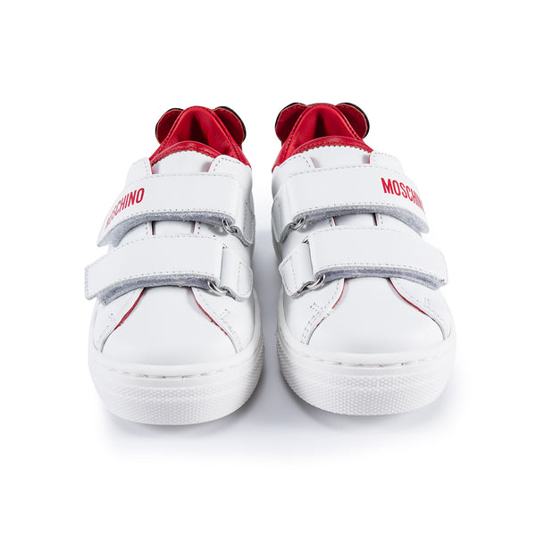 Boys & Girls Red Patch Teddy Sneakers