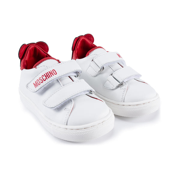 Baby Girls Red Patch Teddy Sneakers