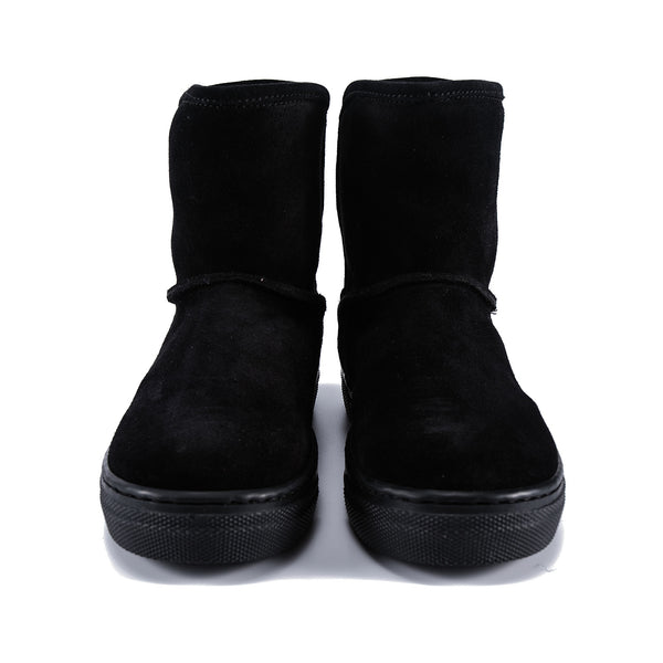 Girls Black Logo Ankle Boots