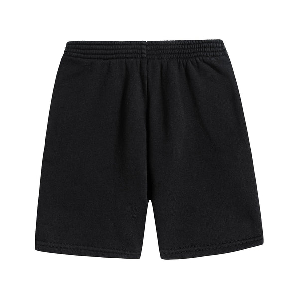 Boys & Girls Black Cotton Shorts