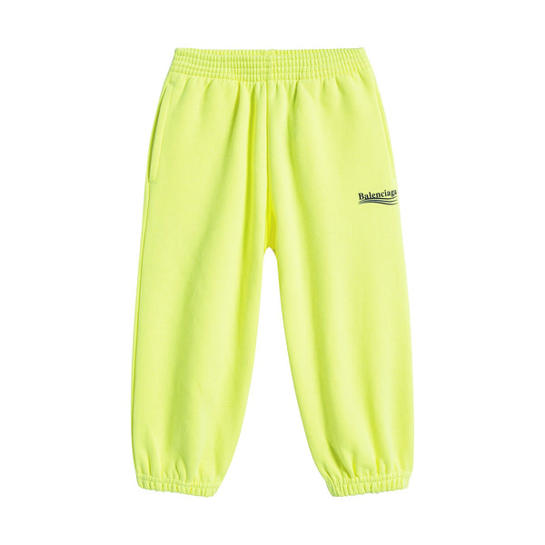 Boys & Girls Yellow Cotton Trousers