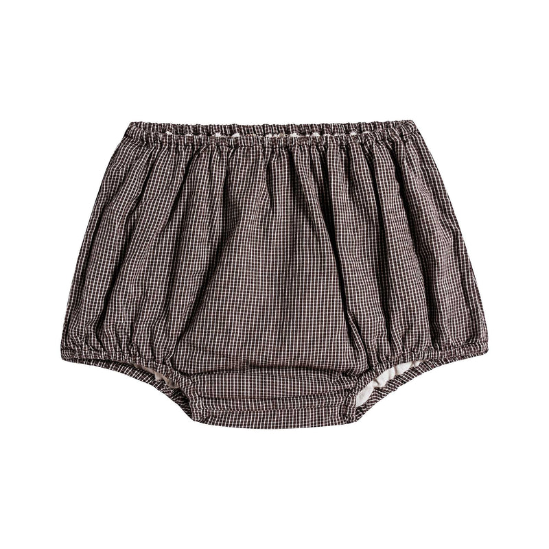 Baby Boys & Girls Brown Microcheck Cotton Shorts