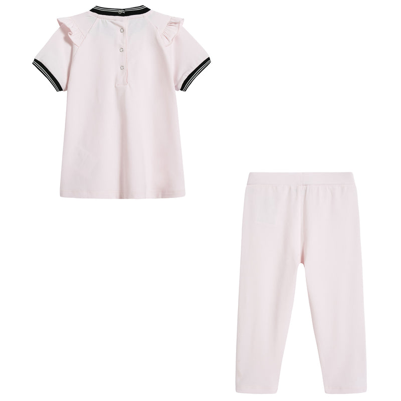 Baby Girls Light Pink Cotton Set