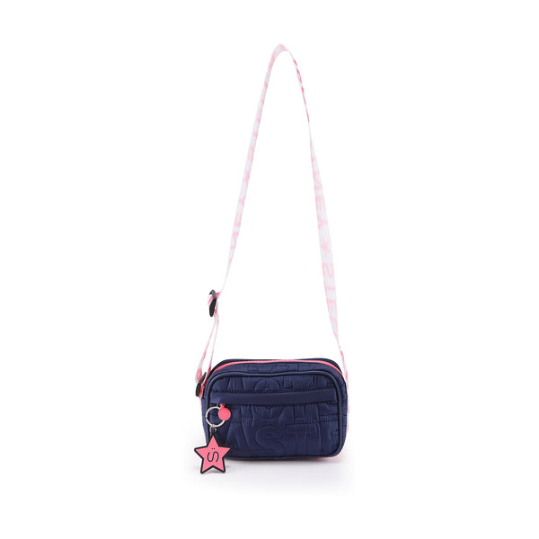 Girls Navy Shoulder Bag