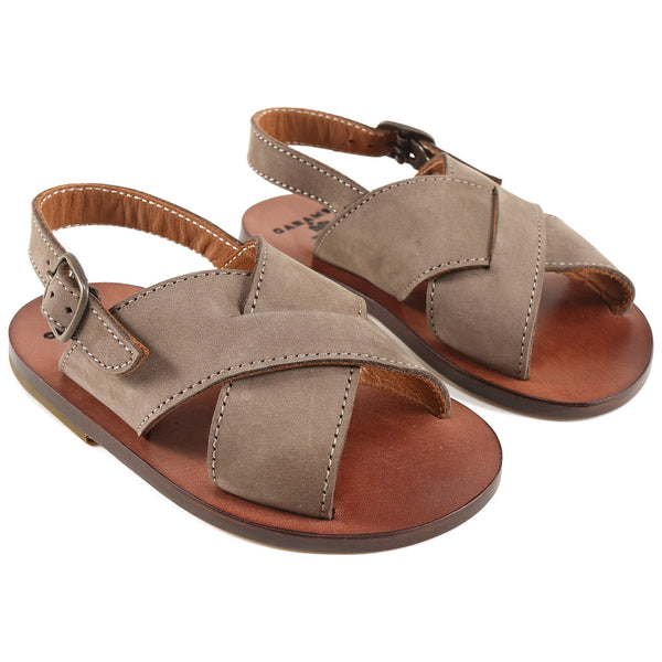 Boys & Girls Brown Leather Sandals