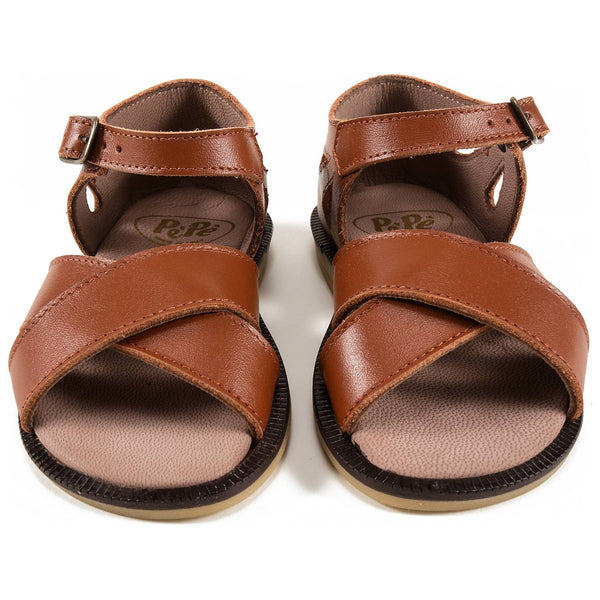 Boys Brown Leather Sandals