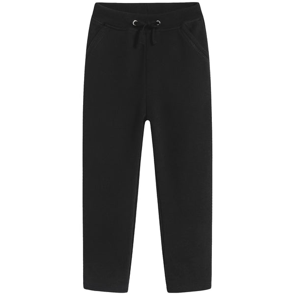 Girls Black Cotton Pants