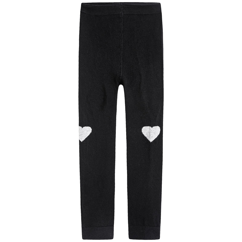 Girls Fusain Hearts Leggings