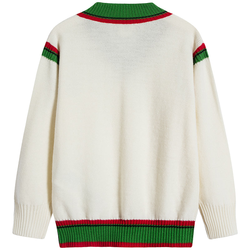 Boys & Girls White Wool Jumper