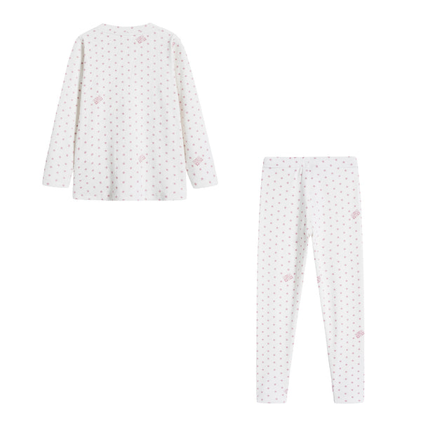 Girls White Stars Nightwear Set