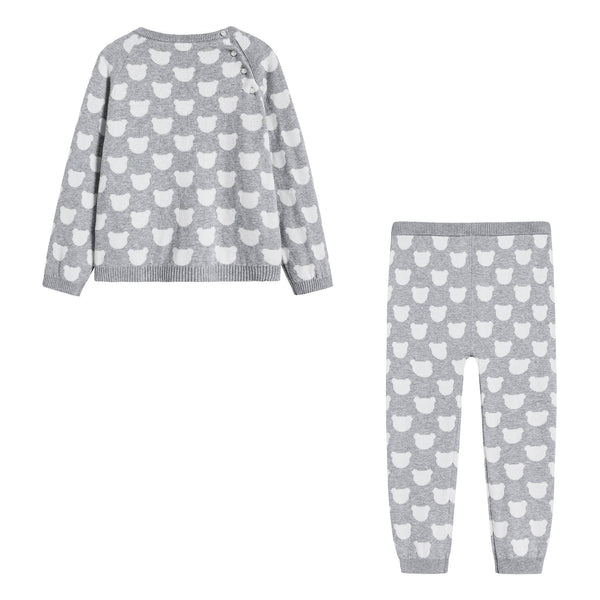 Baby Boys & Girls Grey Cotton Set