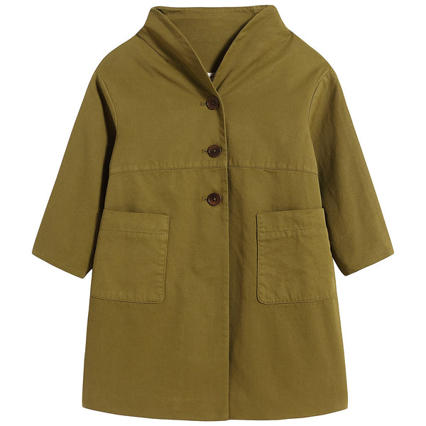Girls Dark Green Coat