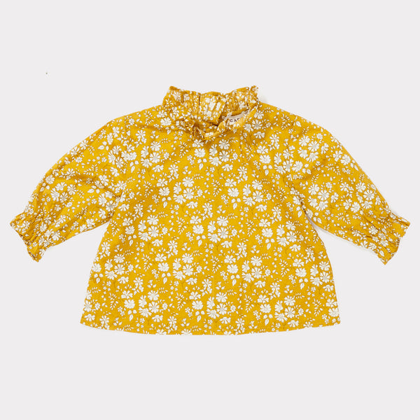 Baby Girls Liberty Capel Mustard Cotton Blouse