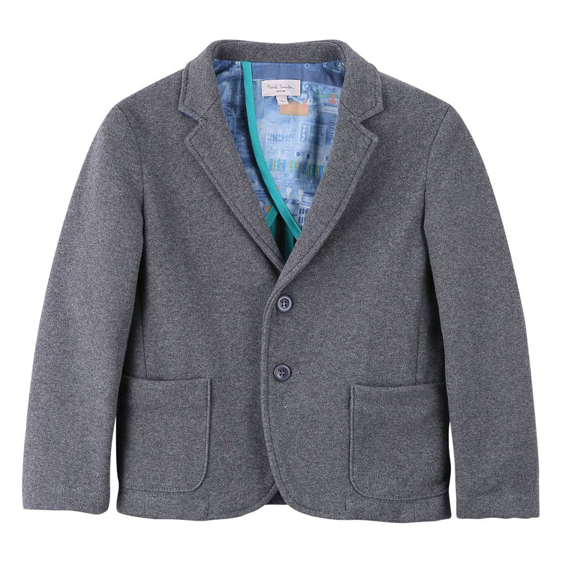 Boys Dark Grey Patch Pockets Blazer - CÉMAROSE | Children's Fashion Store - 1