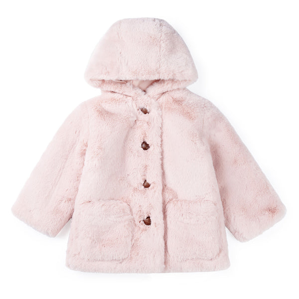 Girls Rose Hooded Coat