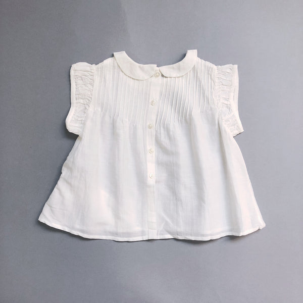Baby Girls White Embroidered Cotton Top