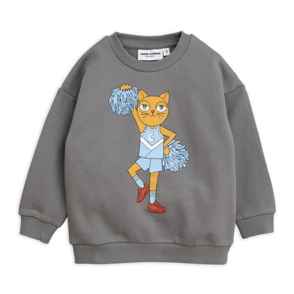 Boys & Girls Grey Cotton Cheercat Sweatshirt