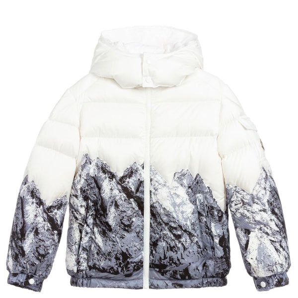 Boys Cream Padded Down Jacket