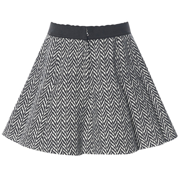 Girls Grey Wool Rib Waist Skirt - CÉMAROSE | Children's Fashion Store - 2