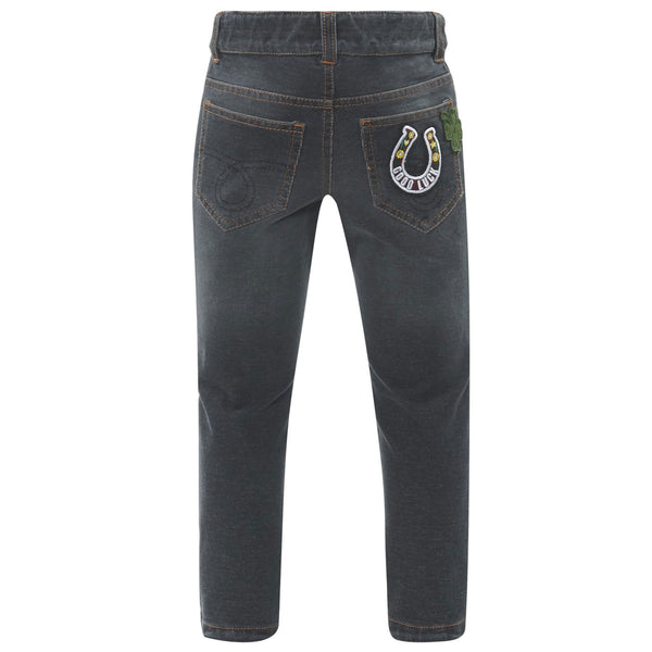 Boys Dark Grey Cotton Jeans - CÉMAROSE | Children's Fashion Store - 2