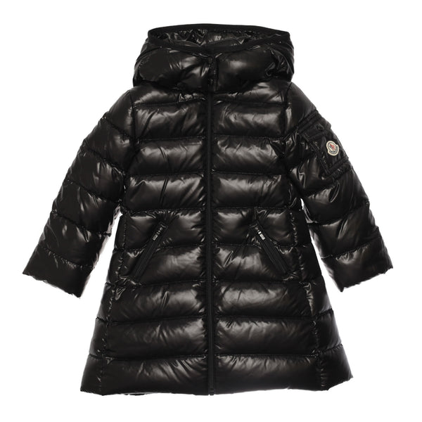 Girls Black Padded Down 'Moka' Coat - CÉMAROSE | Children's Fashion Store - 1