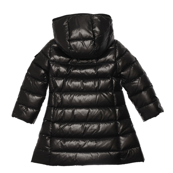 Girls Black Padded Down 'Moka' Coat - CÉMAROSE | Children's Fashion Store - 2