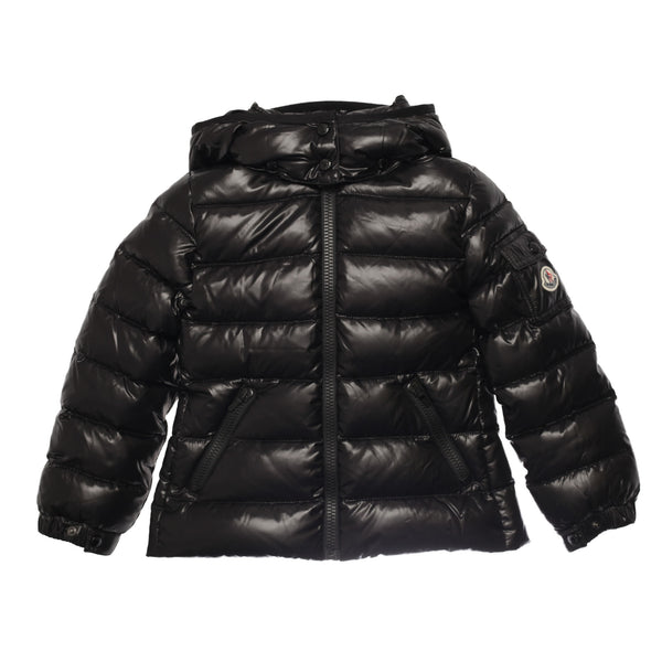 Girls Black Hooded Padded Down 'Bady' Jacket - CÉMAROSE | Children's Fashion Store - 1