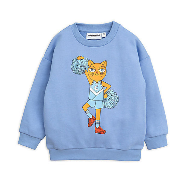 Boys & Girls Blue Cotton Cheercat Sweatshirt