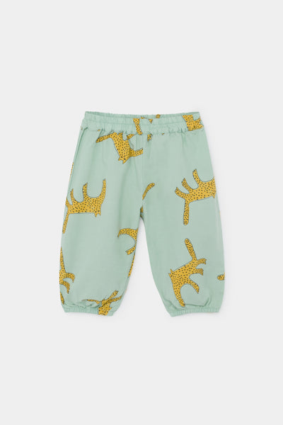 Baby Girls Green Leopards Baggy Trousers