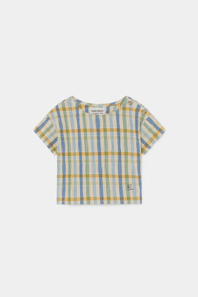 Baby Girls Multicolor Check Cotton Top