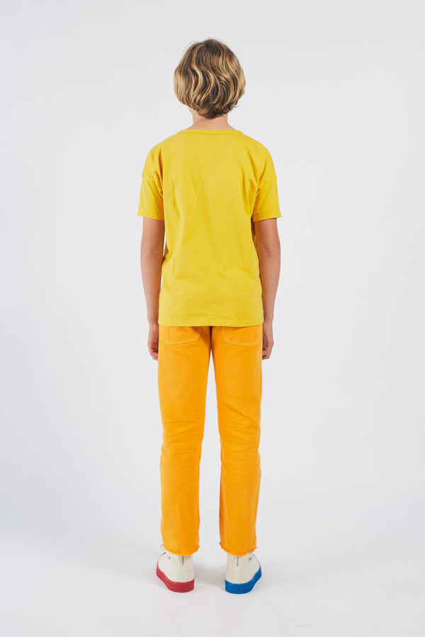 Boys Yellow Logo Cotton T-shirt