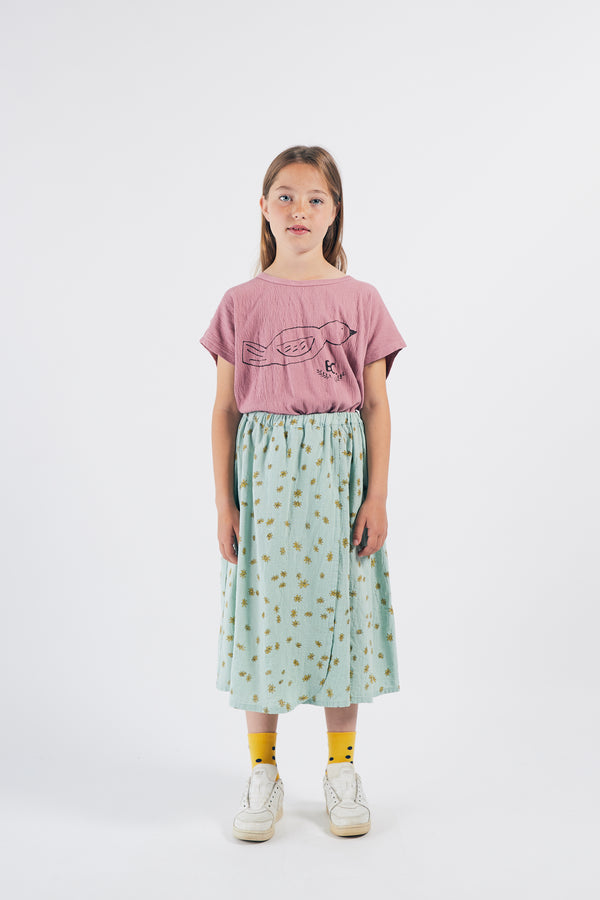 Girls Green Daisy Skirt