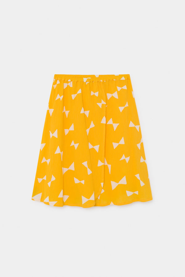 Girls Yellow Bow Cotton Skirt
