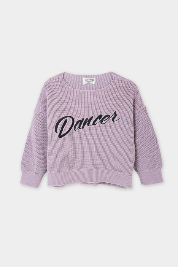 Girls Purple Dancer Cotton Sweater