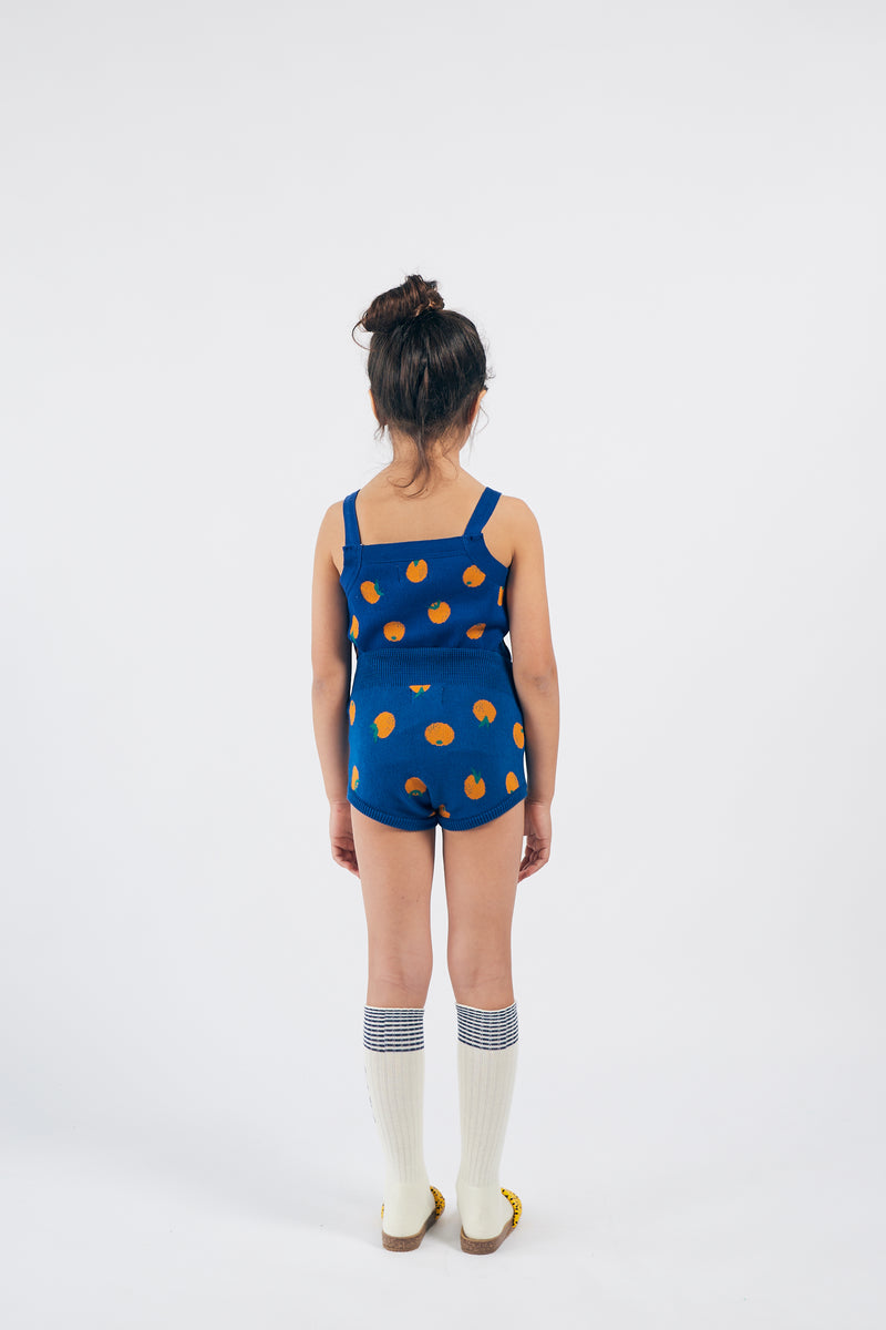 Girls Blue Orange Knitted Tank Top