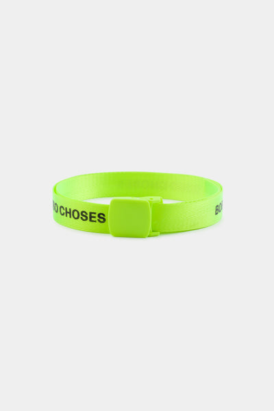 Boys Fluor Green Logo Belt